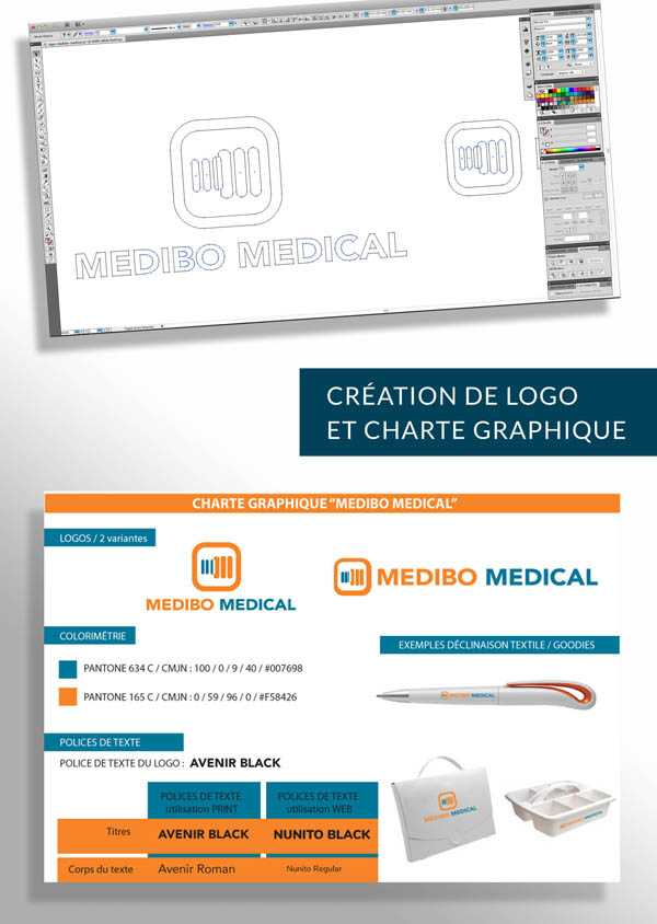 creation logo medibo medical