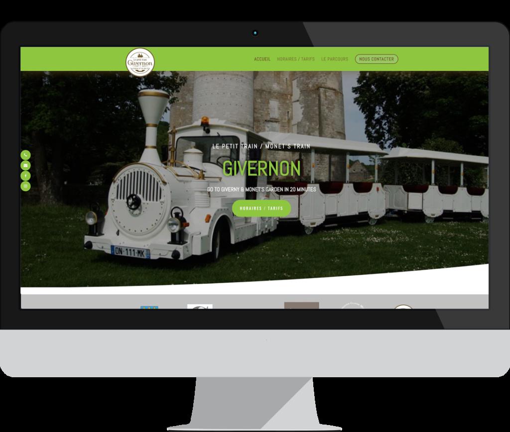 site internet le petit train givernon