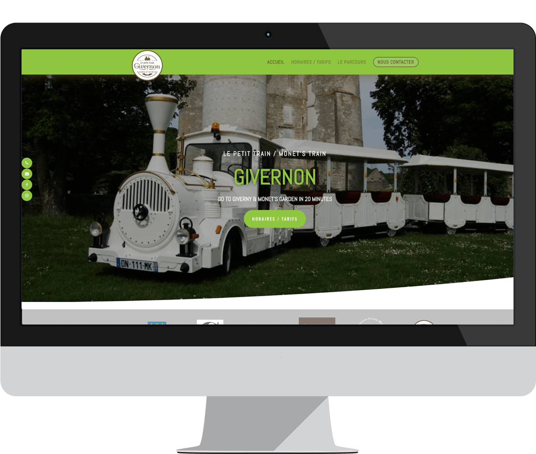 site internet le petit train givernon